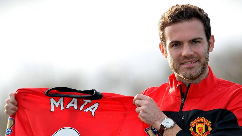 promo code c81e1 fe629 Juan Mata unveiling: Meet Manchester United's new No 8 ...