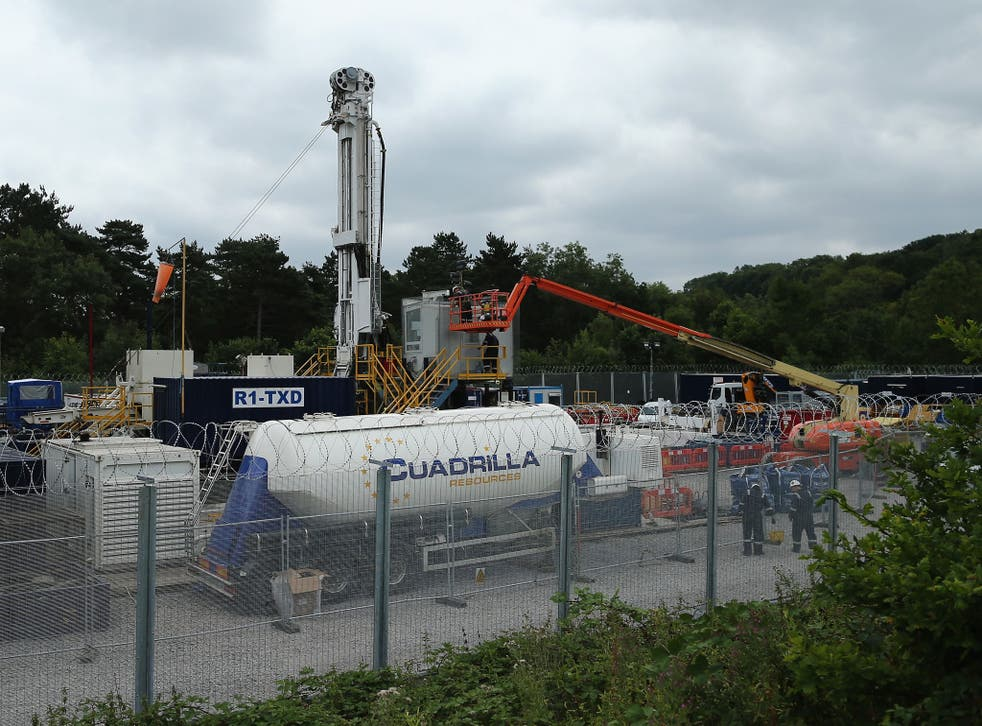 Cuadrilla operated drill site in Balcombe, West Sussex. The company has withdrawn applications for permits to frack in Lancashire
