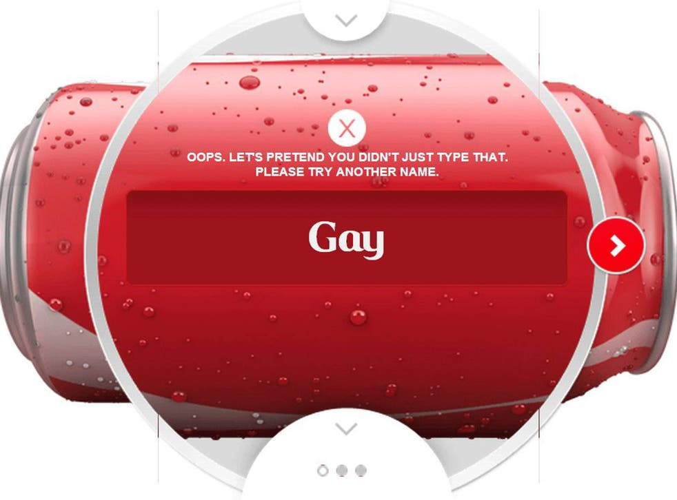 The word Gay is banned from Coca-Cola
