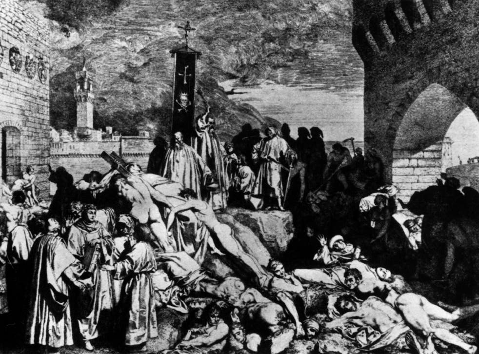 This 1348 painting shows how plague devastated European cities like Florence