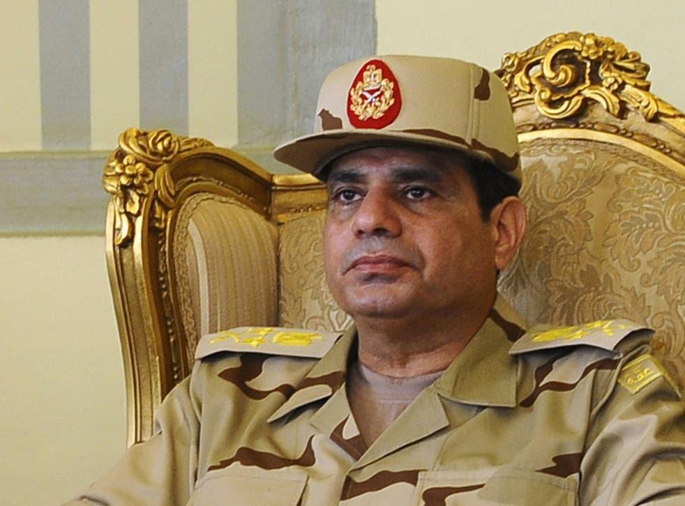 Egyptian army chief General Abdel Fattah al-Sisi is seen as a popular figure