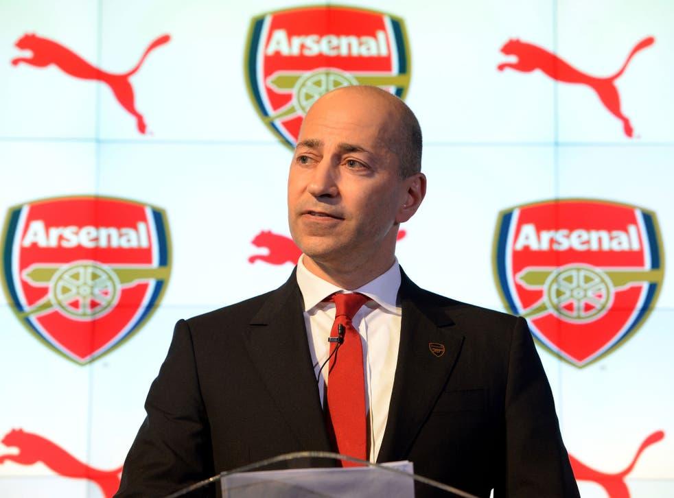 Arsenal's chief executive Ivan Gazidis at the launch of Puma's £150m kit deal