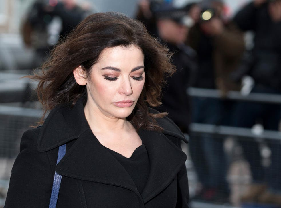 Nigella Lawson arrives at Isleworth Crown Court on December 5, 2013 in London, England. Italian sisters Francesca and Elisabetta Grillo, who worked as assistants to Nigella Lawson and Charles Saatchi, are accused of defrauding them of over 300,000 GBP.