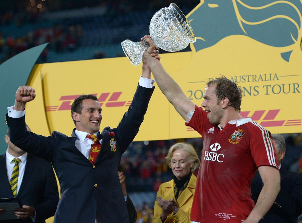 Sam Warburton and Alun Wyn Jones together after the successful British and Irish Lions tour of Australia