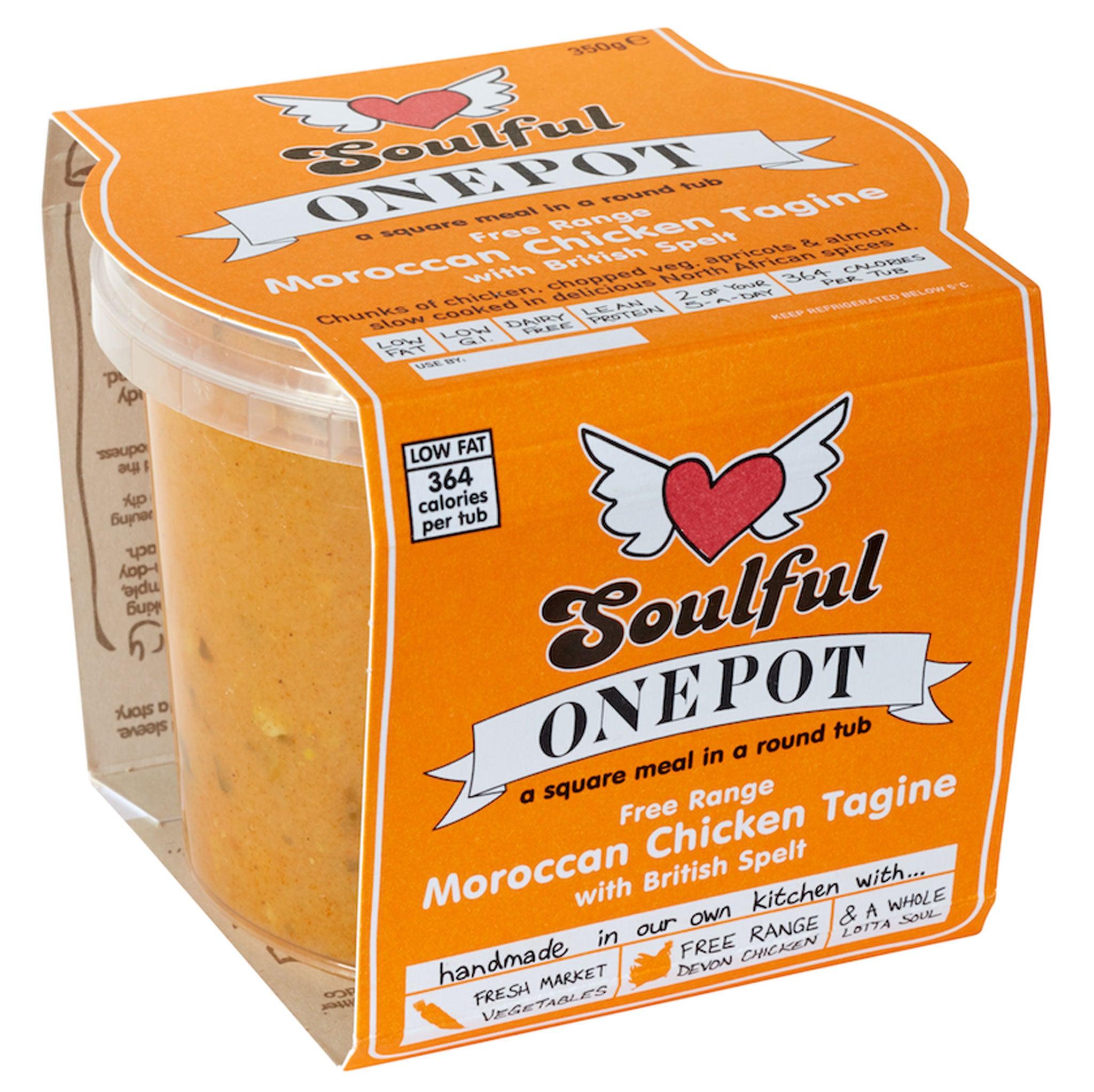 Soulful Food OnePot marokkanisches Hühnchen Tajine mit britischem Dinkel