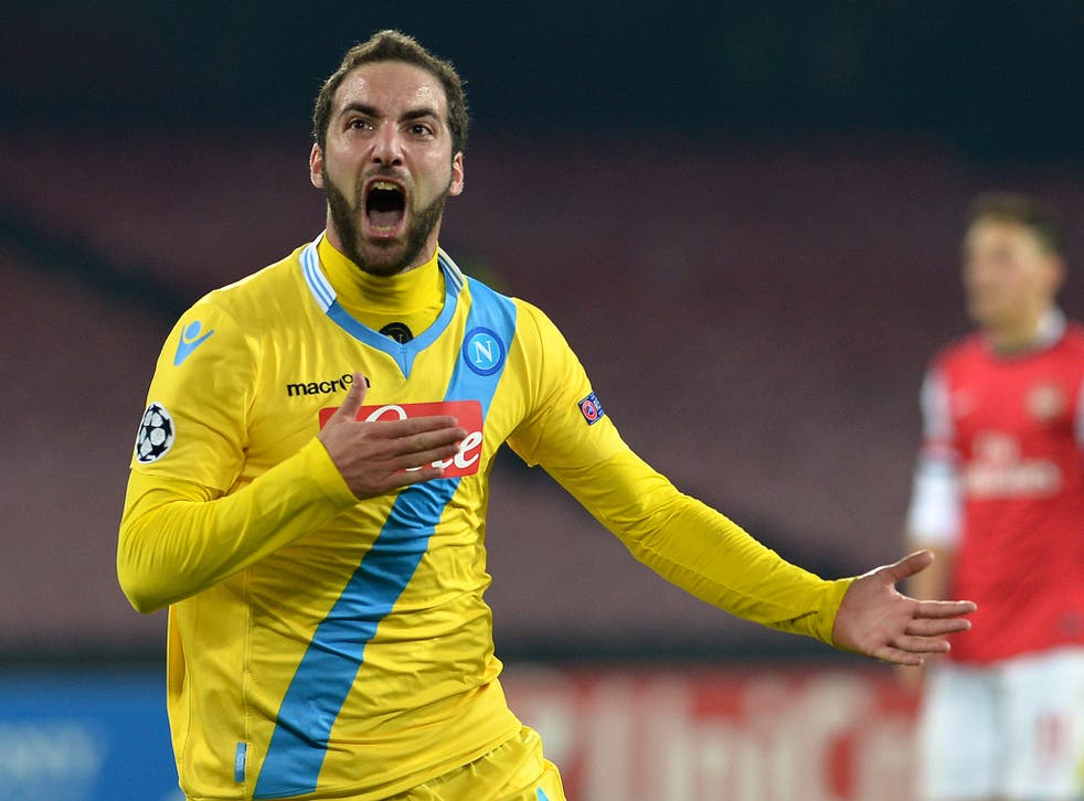 Napoli striker Gonzalo Higuain was reportedly the subject of a £50m offer from Chelsea