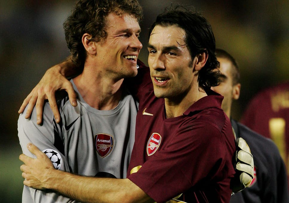 4eccd1b2e Jens Lehmann (right) celebrates Arsenal progressing to the Champions League  final in 2006 with