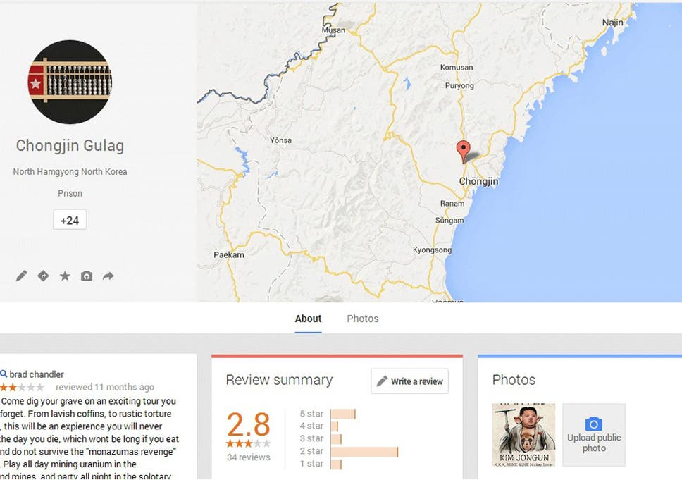 North Korean gulags are attracting reviews on Google Maps ... on google earth update 2014, google maps updated 2012, google maps street view, google search, google sky,