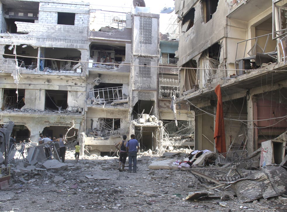 The camp at Yarmouk near Damascus contains 20,000 besieged Palestinians