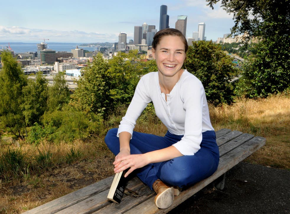 Amanda Knox in Seattle, US. Ms Knox is not expected to return to Italy for the trial
