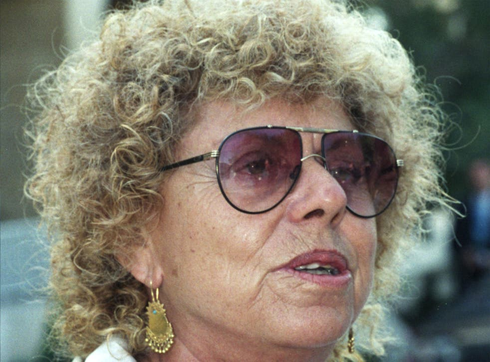Aloni in 1992, the year she formed the Meretz Party