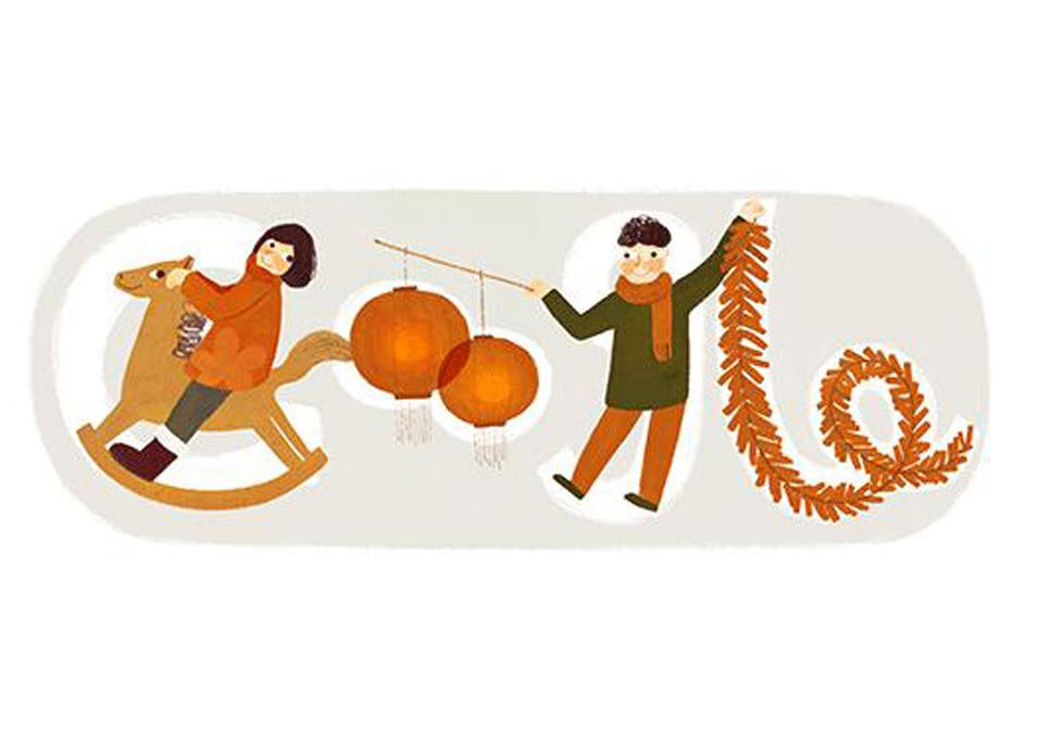 Chinese new year 2014 year of the horse celebrated with google chinese new year 2014 year of the horse celebrated with google doodle voltagebd Image collections