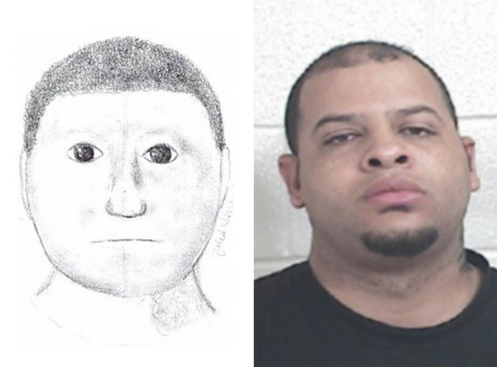 The spherical cartoon-like sketch incredibly helped catch Glenn Rundles - who does have a rather round head