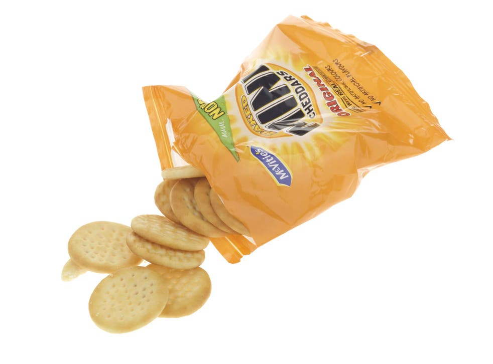 Riley Pearson took a pack of Mini Cheddars to school for lunch each day