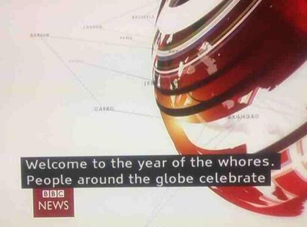 BBC News' subtitle system mistakingly referred to this as the 'year of the whores' during coverage of Chinese New Year