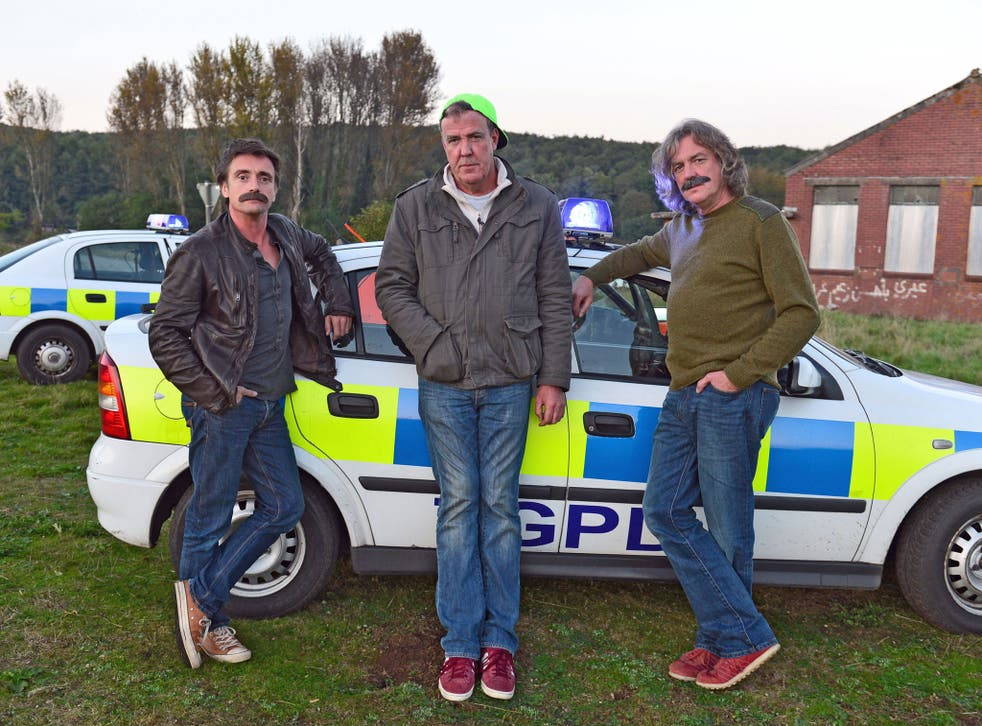 Richard Hammond, Jeremy Clarkson and James May co-host Top Gear