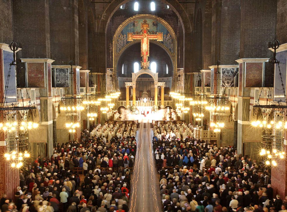 A packed Westminster cathedral
