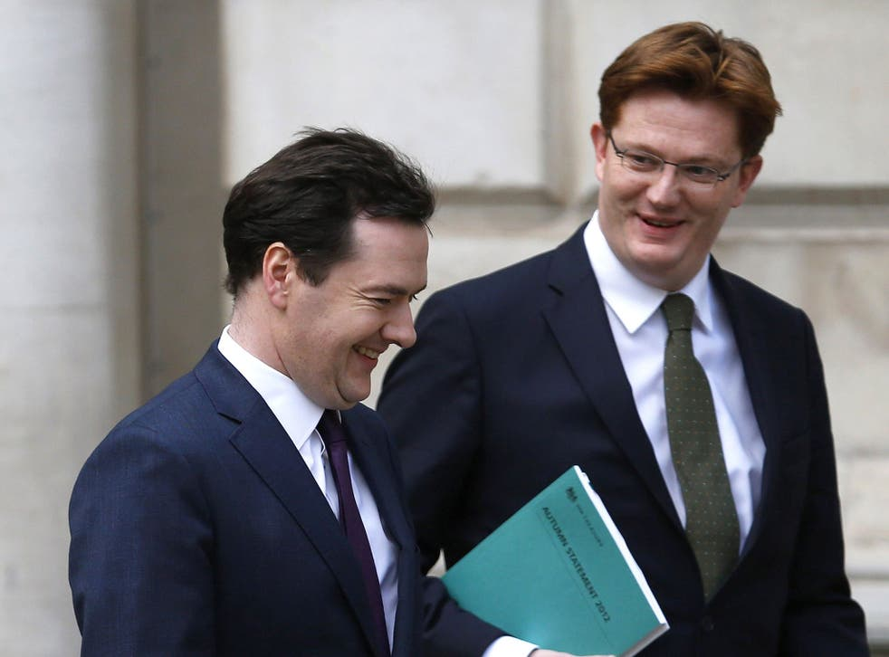 Danny Alexander (right) has caused controversy among Liberal Democrat activists by supporting George Osborne's spending cuts