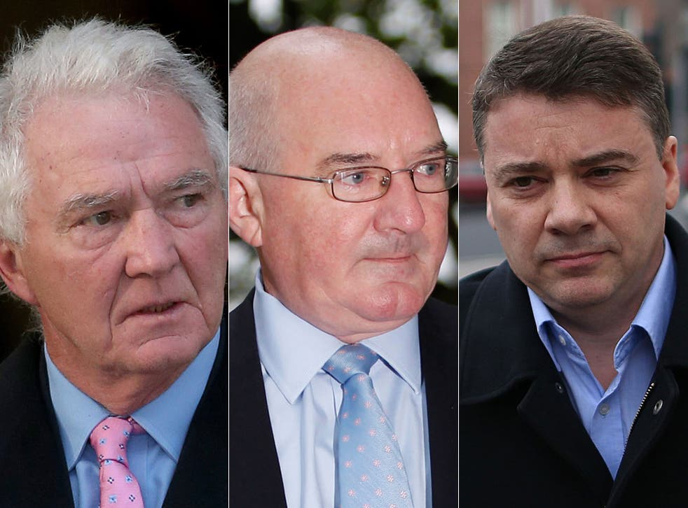 Facing trial: The accused are former chairman and CEO Sean FitzPatrick, the ex-finance director Willie McAteer and former chief financial officer Pat Whelan