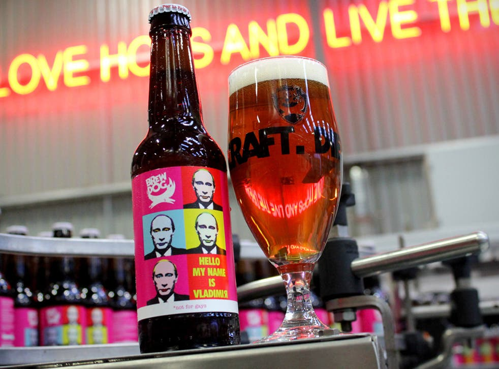 A Scottish brewery has launched a 'not for gays' beer in protest at Vladimir Putin's so-called anti-gay laws