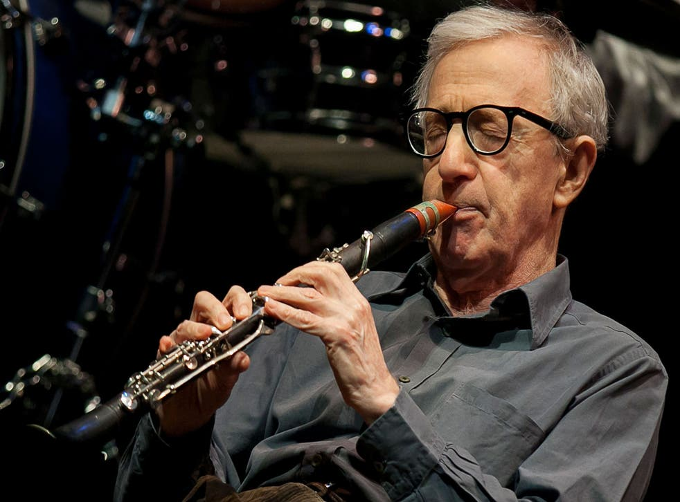 Woody Allen is a regular performer on the New York jazz scene. Here, he plays the clarinet at a club in December 2013.