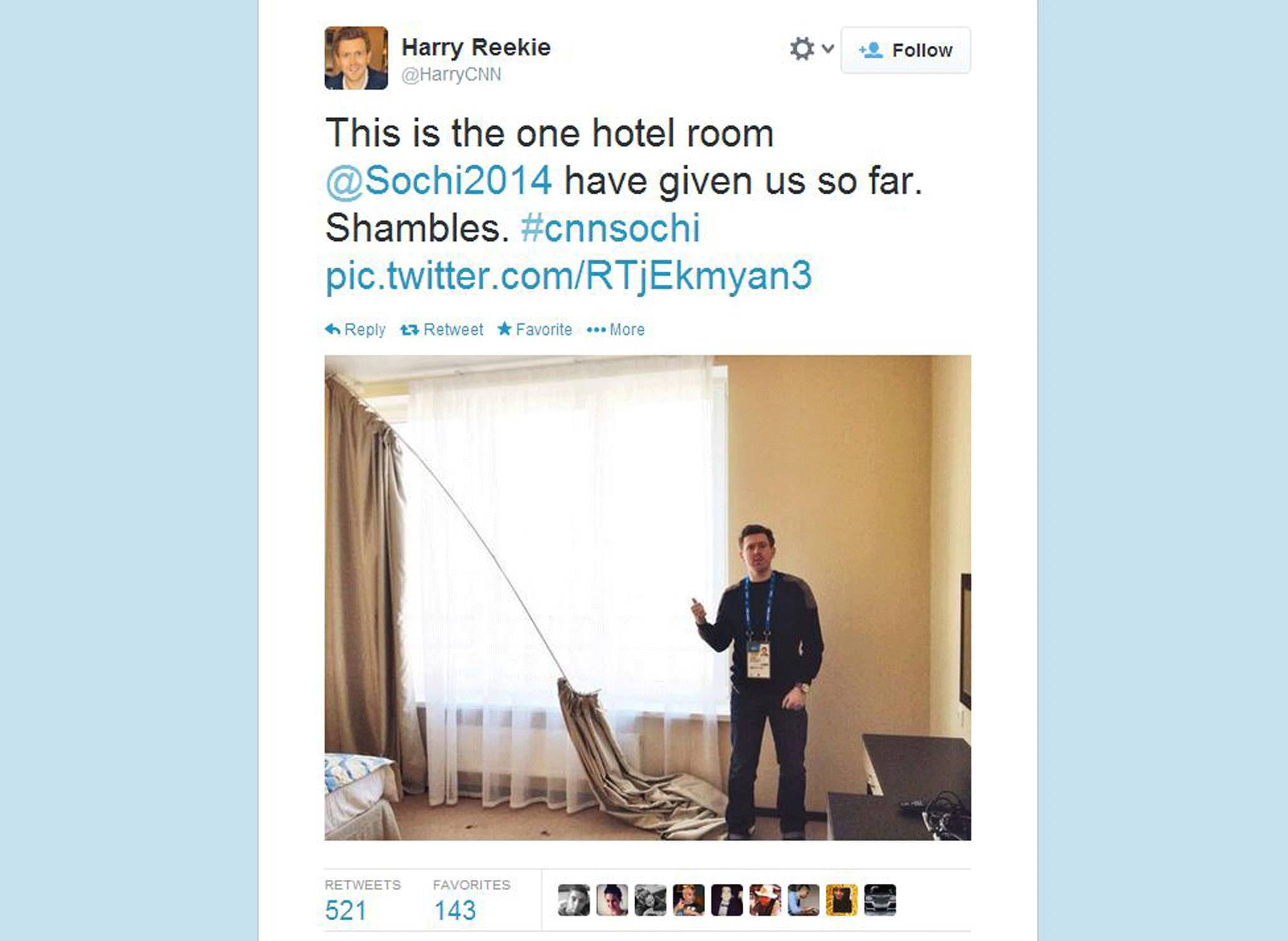 Sochi  Journalists Live Tweet The Terrible State Of Media - Sochi problems tweets