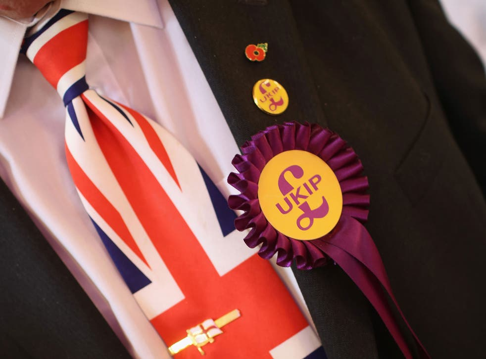 A delegate sporting a Union Flag tie attends the UKIP annual party conference at Central Hall, Westminster in September 2013. The party has since suspended a former chairman for 100 years after he complained about a fellow member to a newspaper.