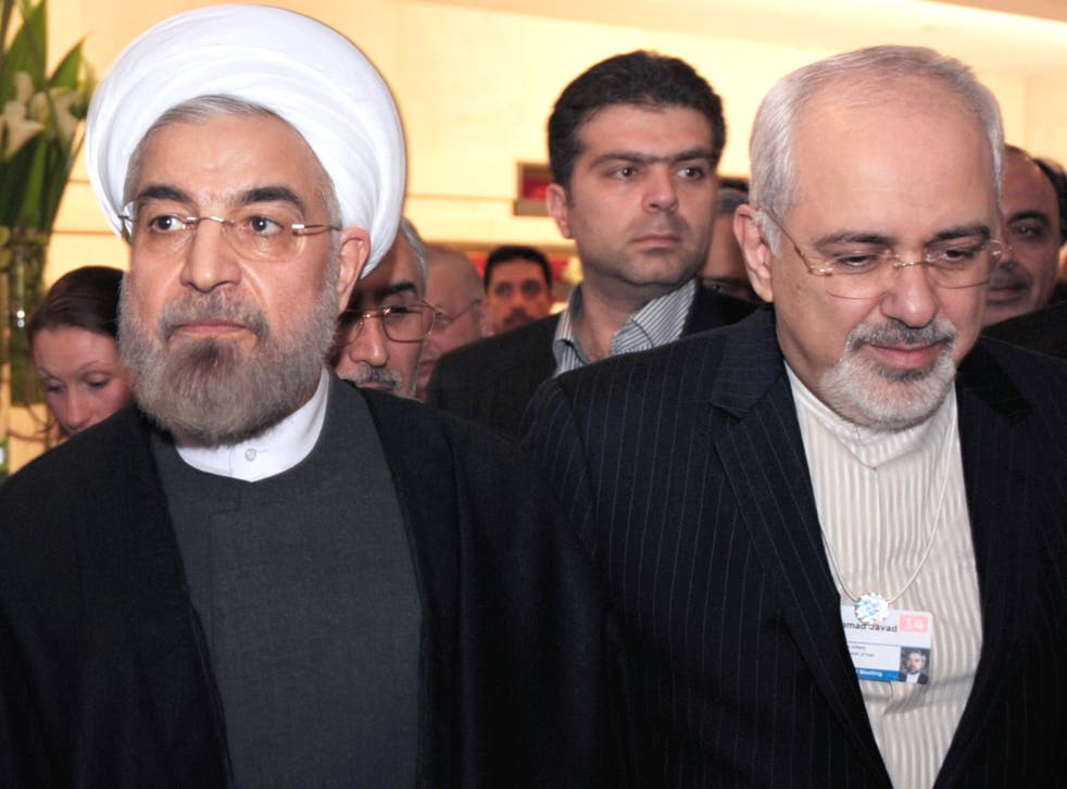 Iran's President, Hassan Rouhani, and Foreign Minister, Mohammad Javad Zarif