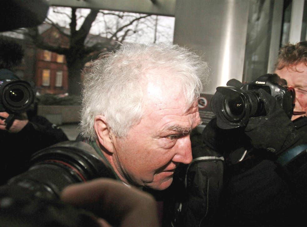 Sean FitzPatrick, former chairman of Anglo Irish, arriving at court in Dublin where he, along with two others, faces charges of trying to inflate the share price of the now-defunct bank