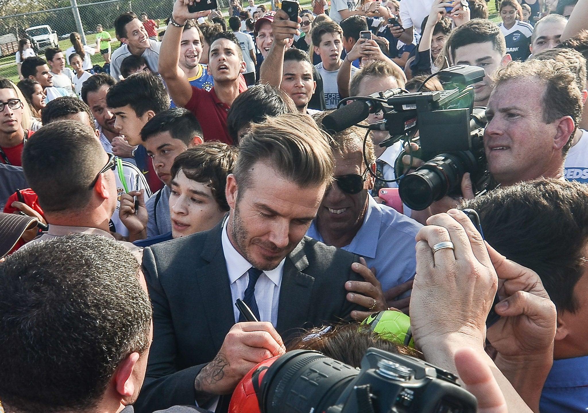 David Beckham Mobbed Frightening Footage Of Fan Crush As Star