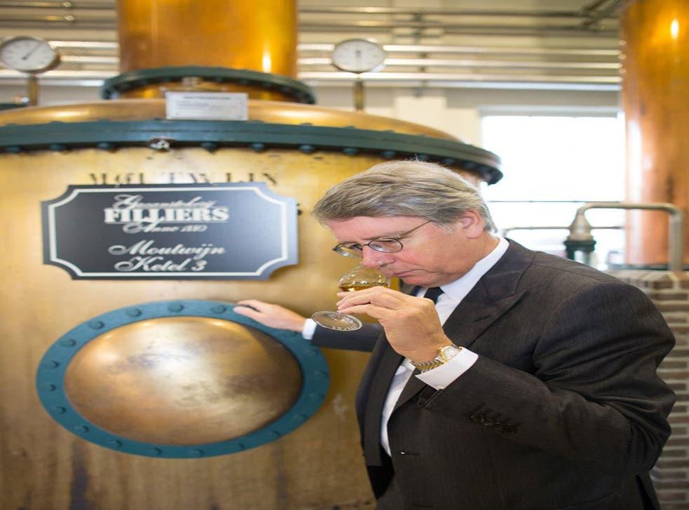 Bernard Filliers at the Filliers distillery in Belgium