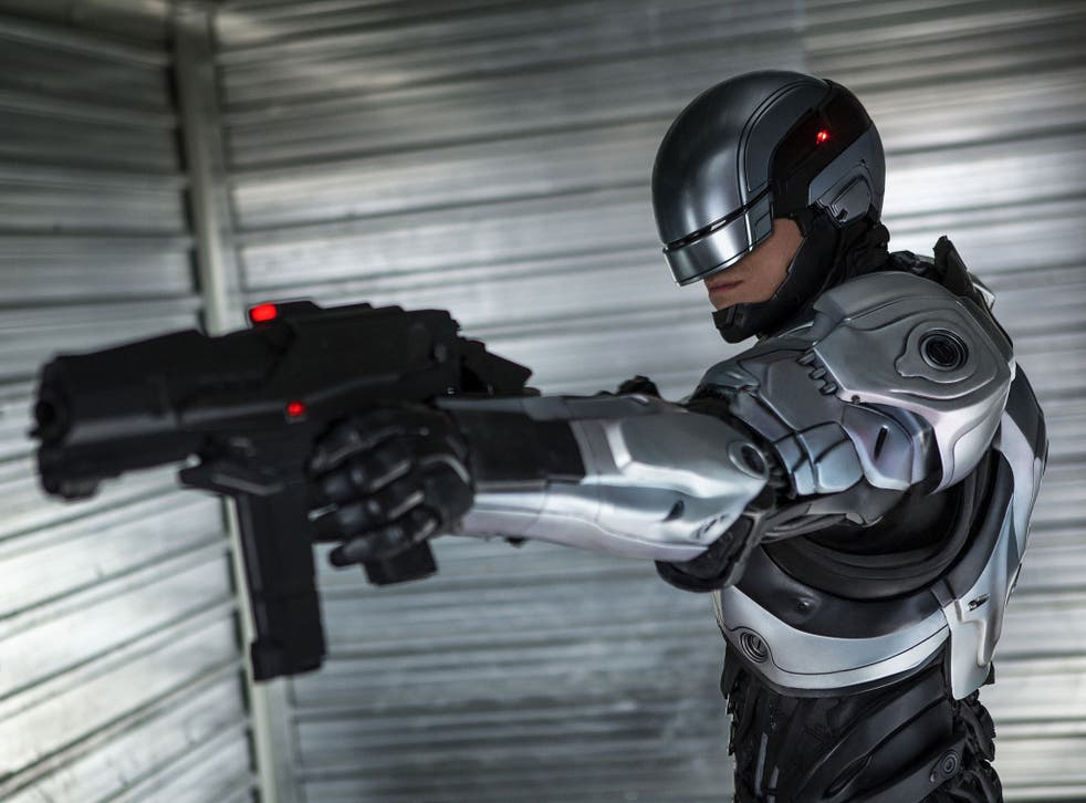 Joel Kinnaman as Alex Murphy in Robocop