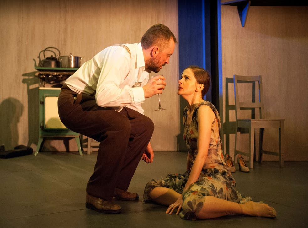 Keith Fleming as John and Louise Brealey as Miss Julie at Citizens Theatre, Glasgow