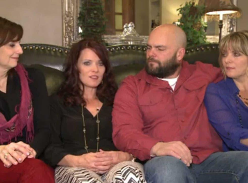 Joe Darger with his three wives