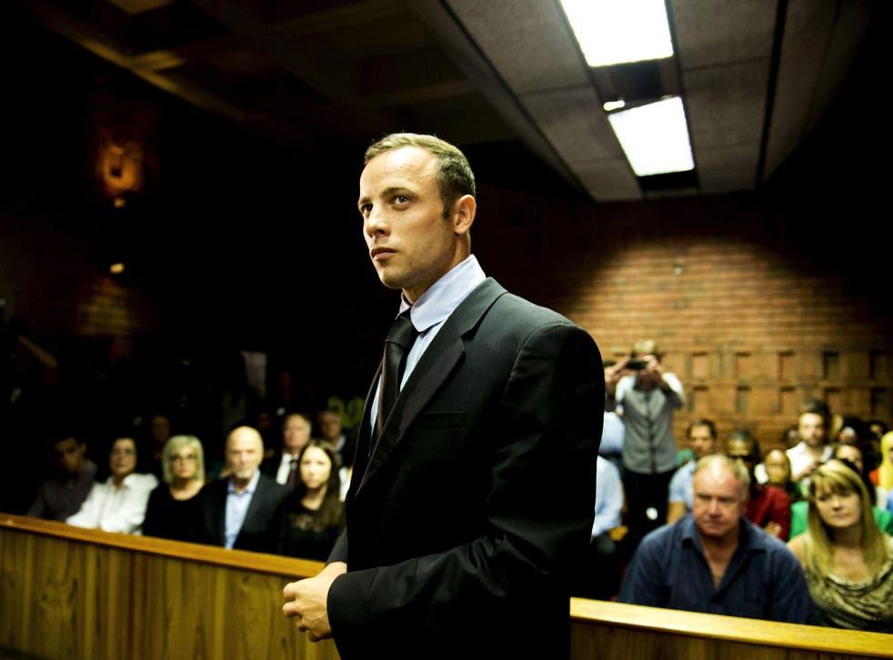 Oscar Pistorius at the Pretoria Magistrates court in Pretoria, 2013