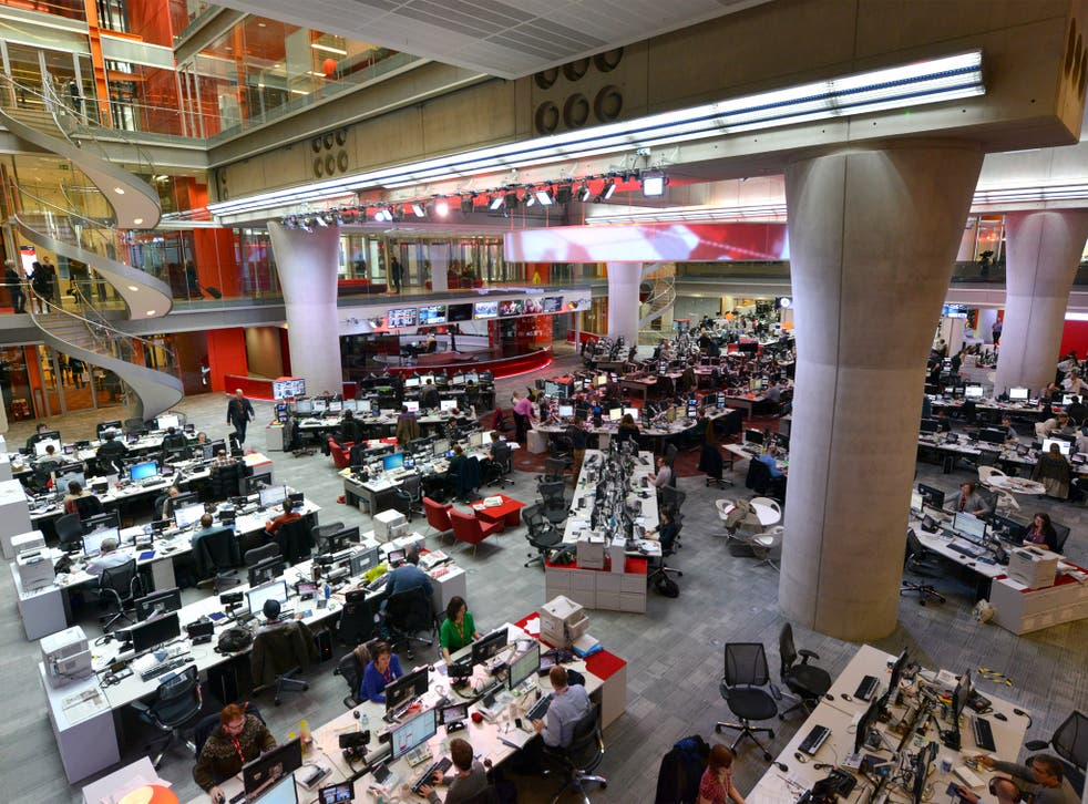 The BBC News room at Broadcasting House - but is it really right of centre?