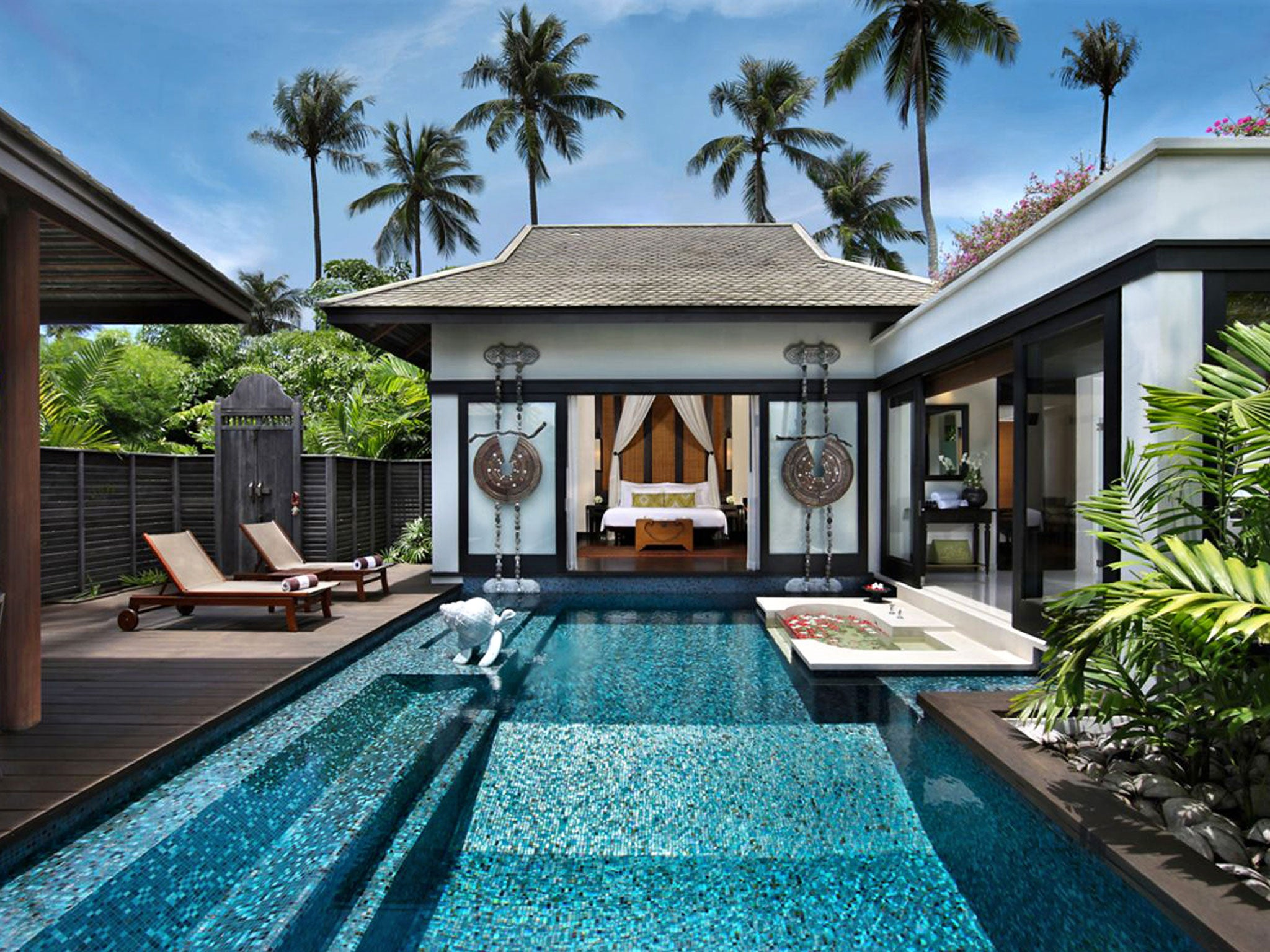Phuket beach retreats Exclusive resorts tropical gardens