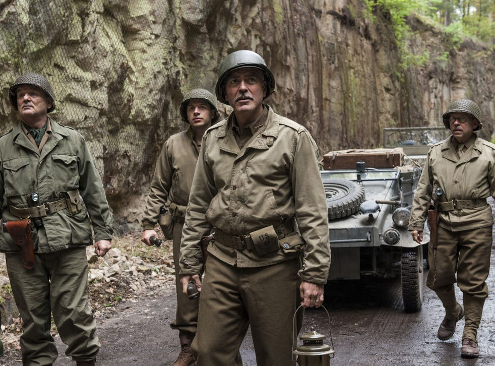 George Clooney plays LT Frank Stokes in The Monuments Men