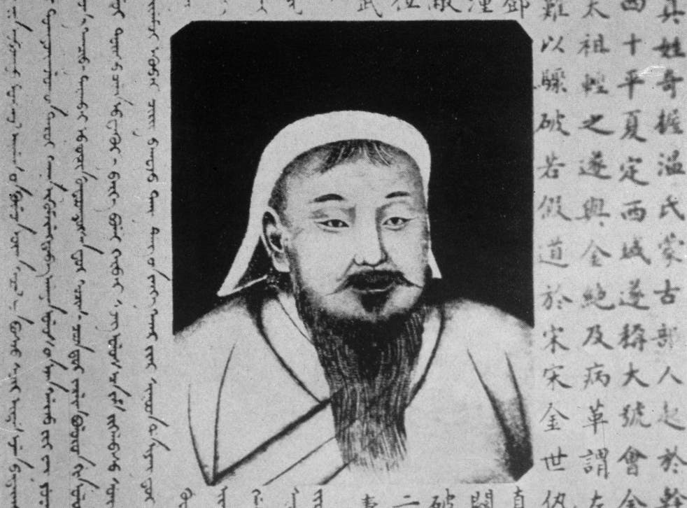 An image of Mongol conqueror Genghis Khan, a new interactive map has revealed his genetic legacy