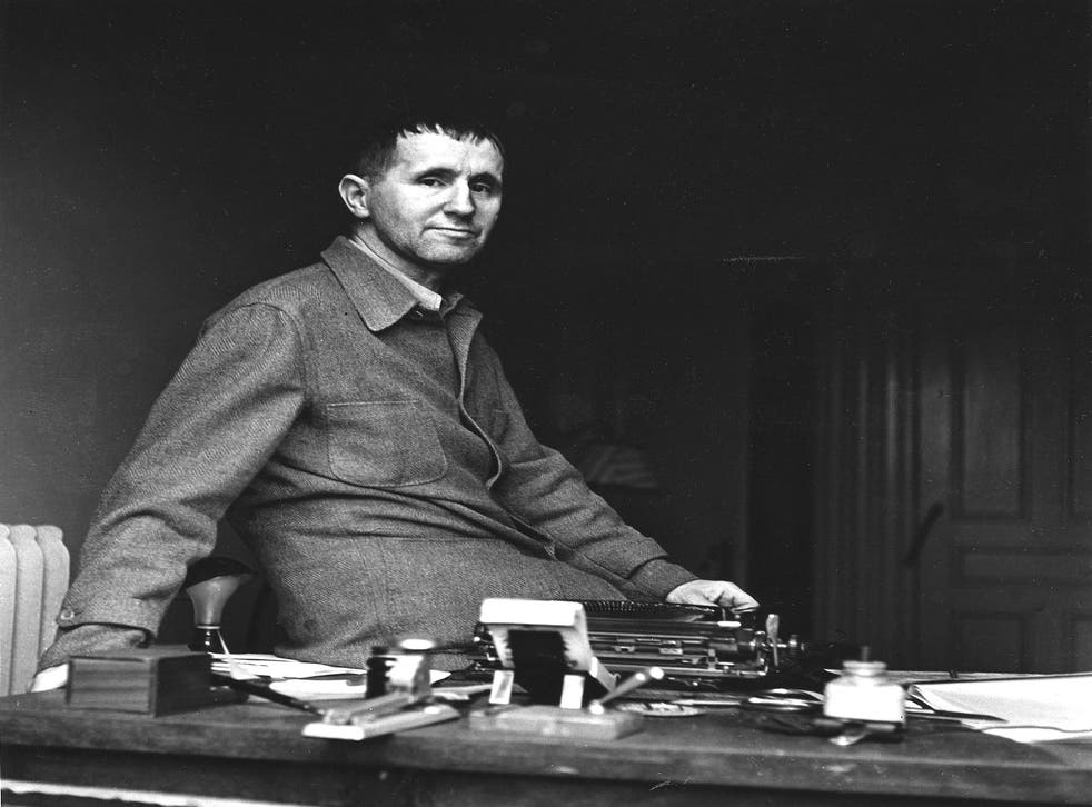 Fascinating reading: Bertolt Brecht at his desk