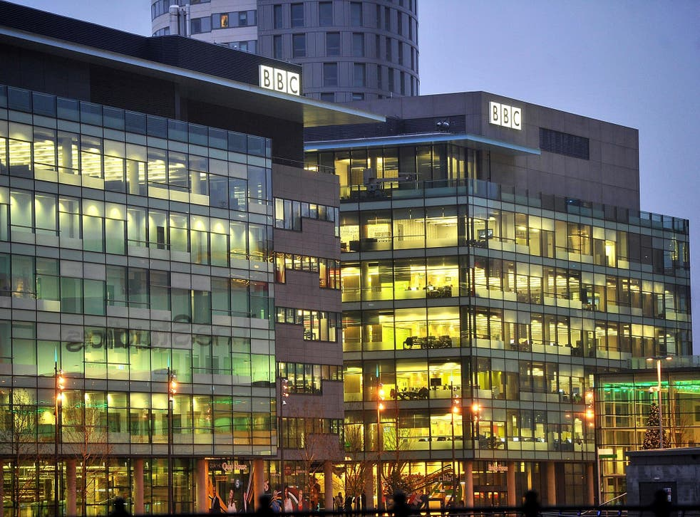 The BBC in Media City in Salford, Manchester