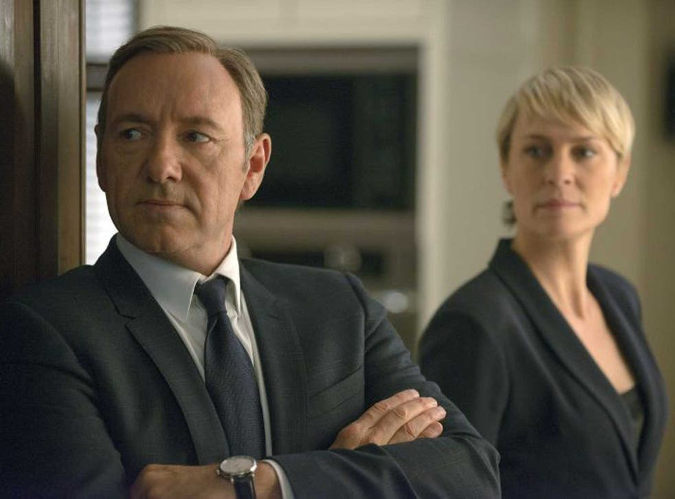 Power play: Kevin Spacey and Robin Wright in  House of Cards