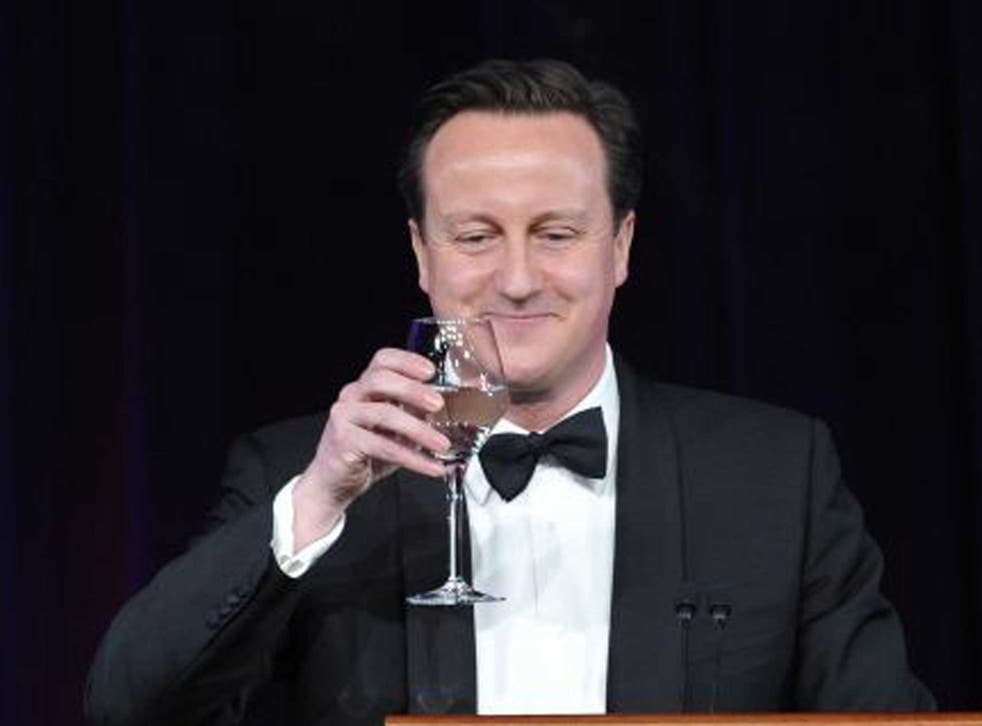 David Cameron: Most likely to drink champagne, followed by red wine and gin and tonic