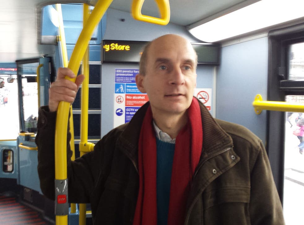 Andrew Adonis on the 453 at Regent Street