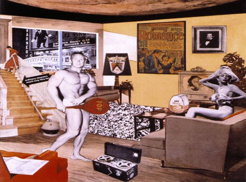 Richard Hamilton's 'Just what is it that makes today's homes so different, so appealing?' (1956) (Estate of Richard Hamilton)