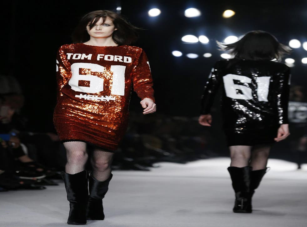Tom Ford's creations showed there is no mistaking him for anything other than American