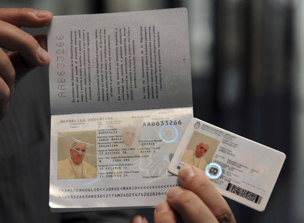 Pope Francis gets passport to show he is a pope of the people | The ...