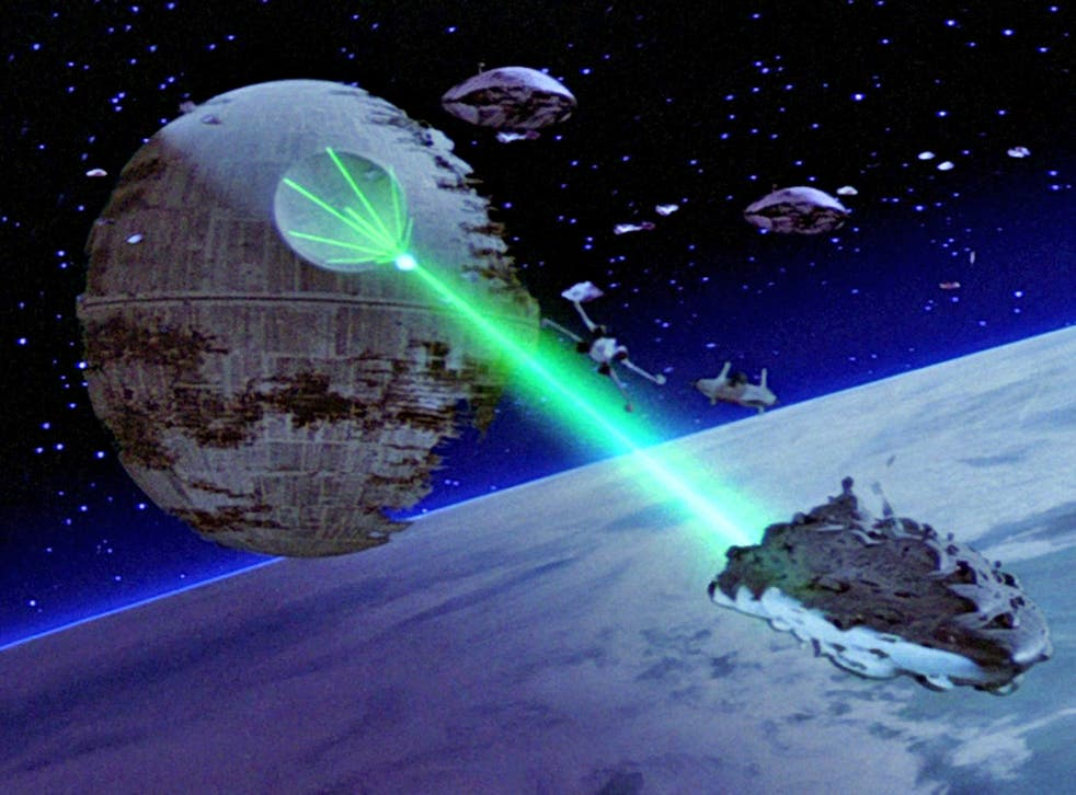The Death Star fires its laser in 'Star Wars: Return of the Jedi'