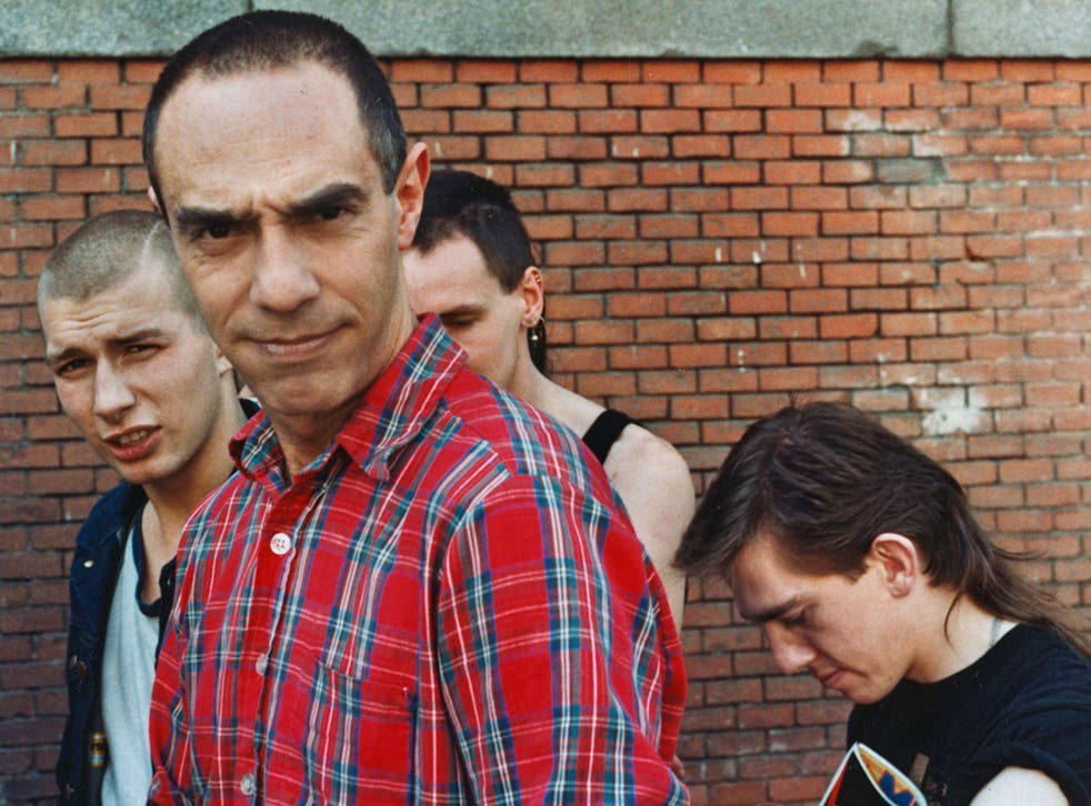 Switched on: Derek Jarman with members of the band Psychic TV in 1983