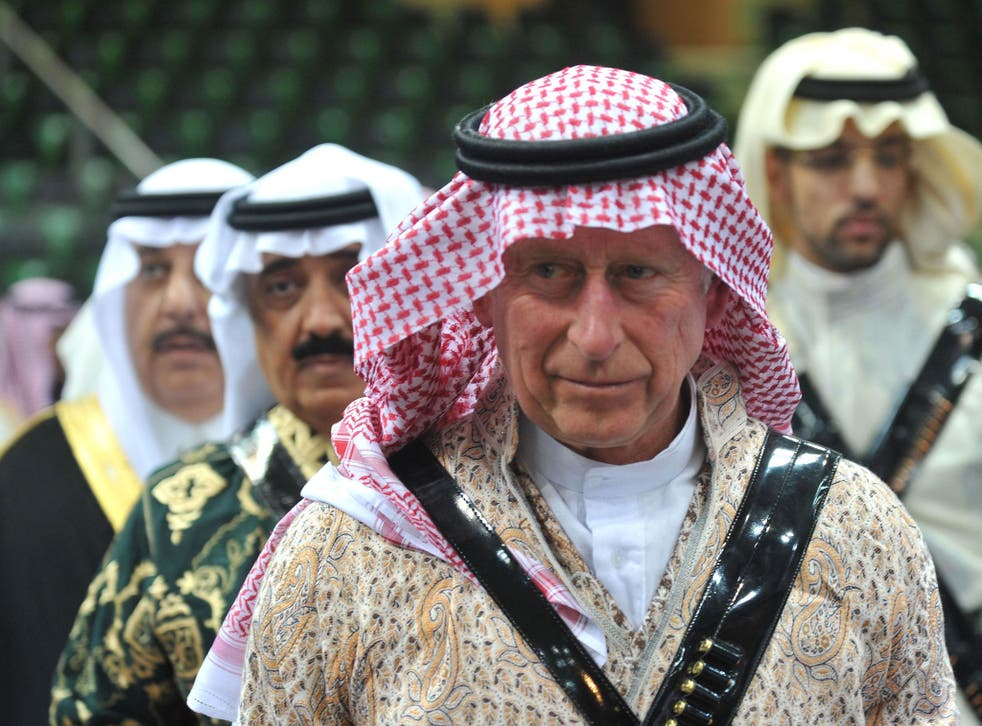 Prince Charles arrived in Saudi Arabia on a private visit in 2013